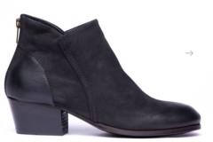 Black angle boot goes with jeans