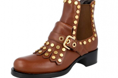 Boots with brass trim goes with jeans