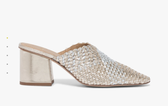 woven leather mules go with jeans