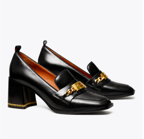 black heal loafers go with jeans